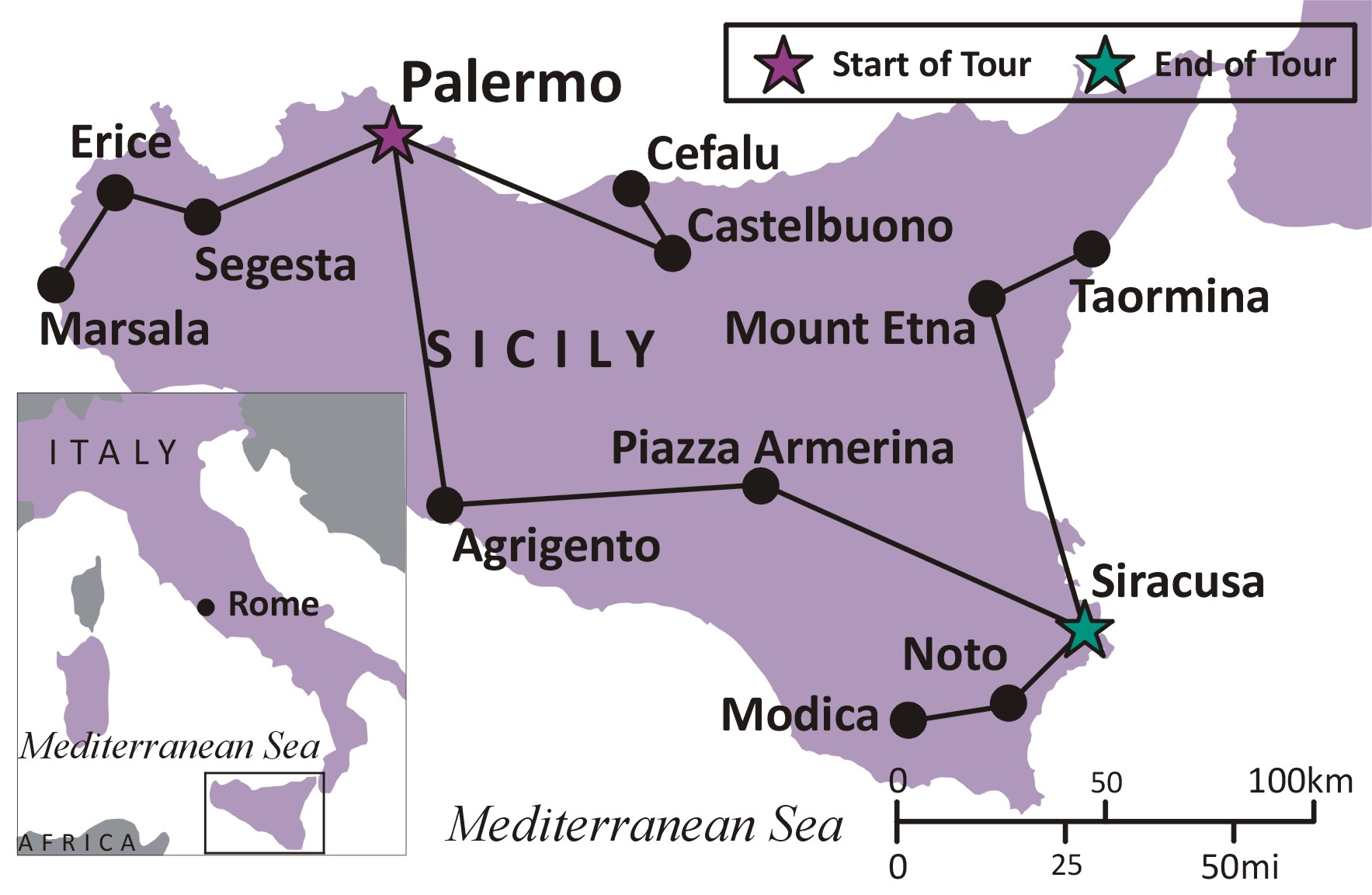 Sights and Soul Travels - Italy: The Secrets of Sicily - Overview on lampedusa island italy map, viceroyalty of peru on map, county of tripoli on map, kingdom of sicily flag, battle of cannae on map, principality of antioch on map, ryukyu kingdom on map,