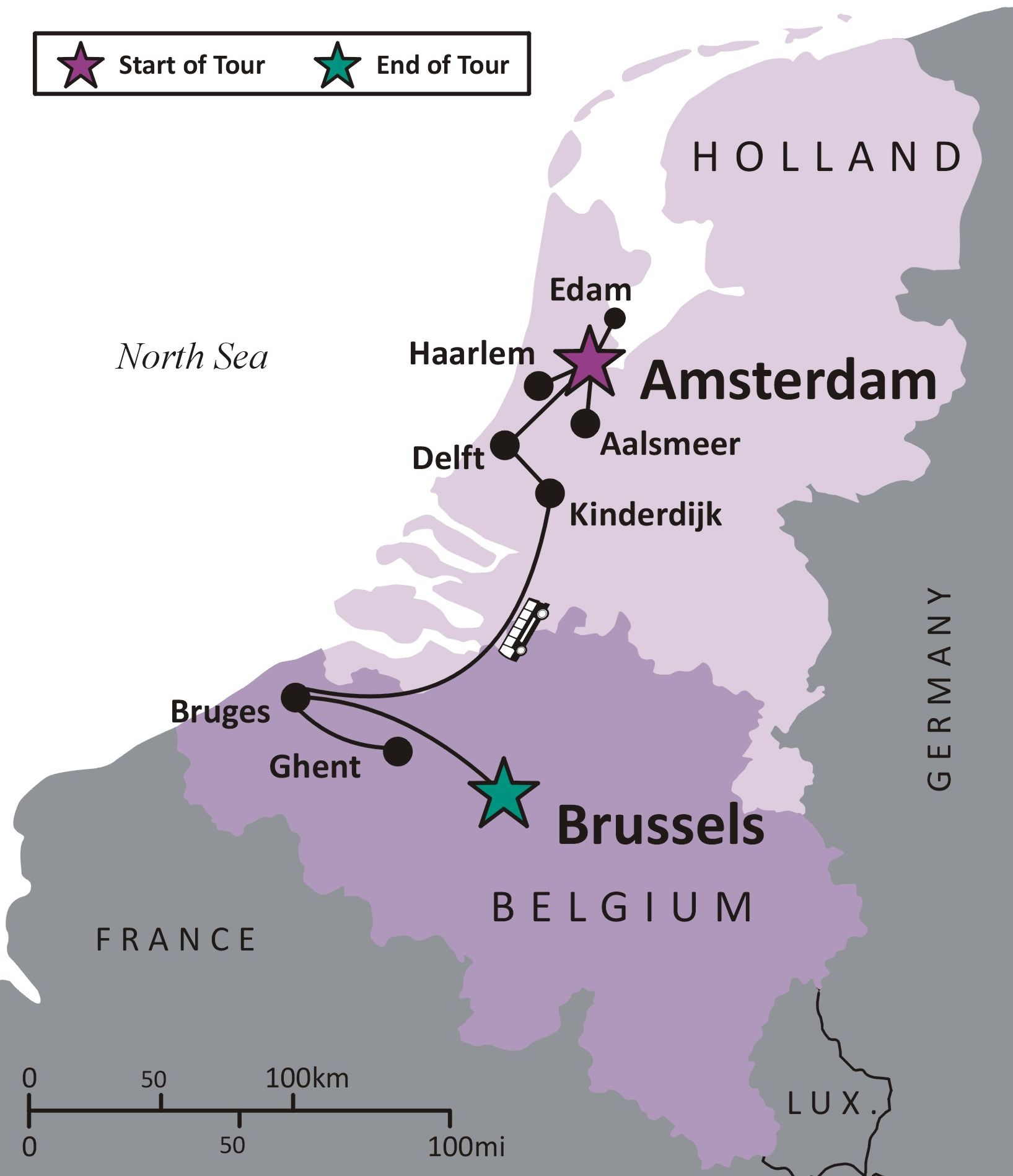 Map Of France And Holland Belgium.Sights And Soul Travels Masters And Artisans Tour To