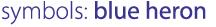 symbols: blue heron