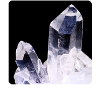 stones: quartz crystals