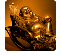 symbols: the laughing Buddha