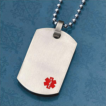 Titanium Medical Dog Tag ID