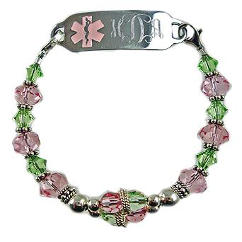 Crystal Balance Pink & Peridot Medical ID Bracelet