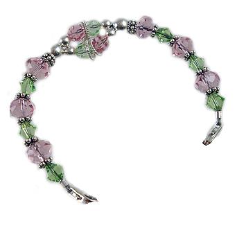 Crystal Balance Pink & Peridot Medical Bracelets