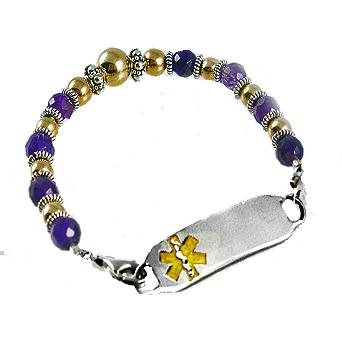 Amethyst Legacy Medical Bracelets