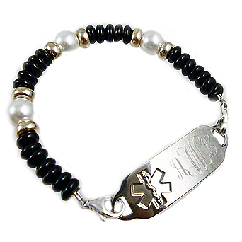 Luna Pearl Trio Medical Bracelets