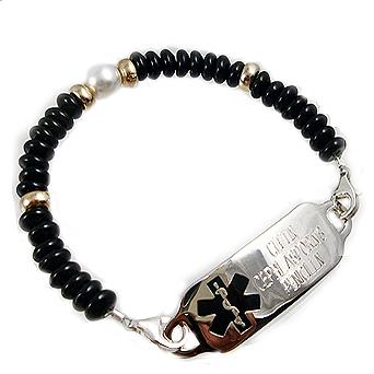 Luna Pearl Medical ID Bracelet Tag Jewelry