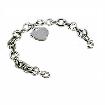 Sterling Oval Link Medical Bracelets