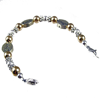 Classic Two-Tone Messages ID Bracelet Tag