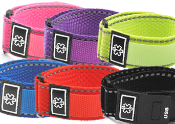Medical ID Velcro Sports Straps