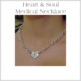 Open Pattern Medical Necklace