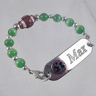 Football Medical Bracelet Set