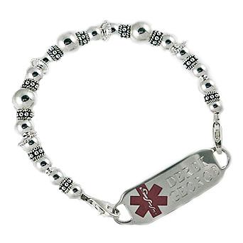 Silver Medical Bracelets