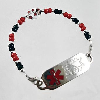 Lucky Ladybug Medical Bracelets