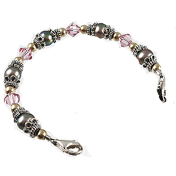 Pretty in Pink & Grey Medical ID Bracelets