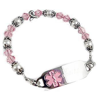Ribbon Of Hope Medical Bracelet ID