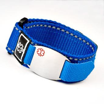 Blue Medical Id Sports Straps