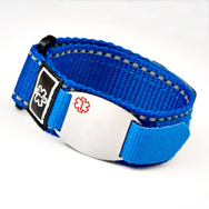 Blue Medical ID Sports Straps
