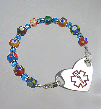 Blue Medical Heart Charm
