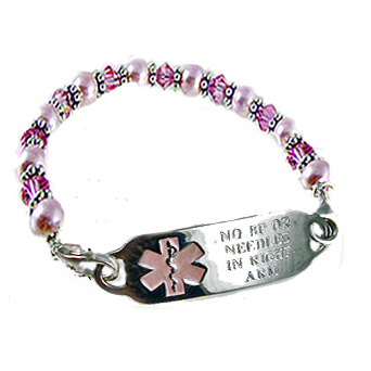 medical Breast id bracelet cancer