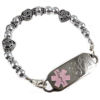 Treasured Hearts Vintage Medical ID Bracelet