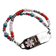 Color Block Medical ID Bracelet