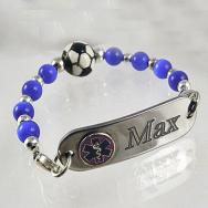 Soccer Medical Bracelet Set