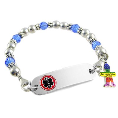 Diabetes Awareness Medical ID Bracelet