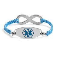 Macrame Medical Alert bracelet, adjustable