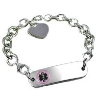 Petite Sterling Silver Link Medical ID Bracelets