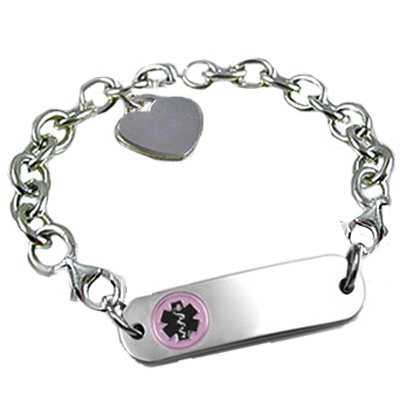 Petite Sterling Silver Link Medical ID Bracelets