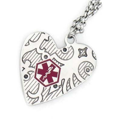Charming Stainless Medical Necklace
