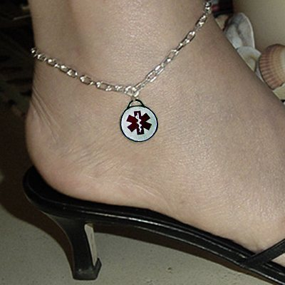 Anchor Medical Charm Anklet