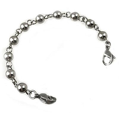 Baubles waterproof stainless steel interchangeable medical strand bracelet-no tag