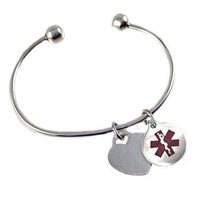 Sterling Silver Cuff bracelet Medi-Charms