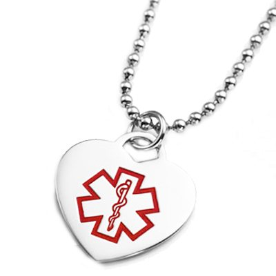 Medical Heart Necklace