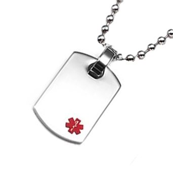 Petite Surgical Medical ID Dog Tag