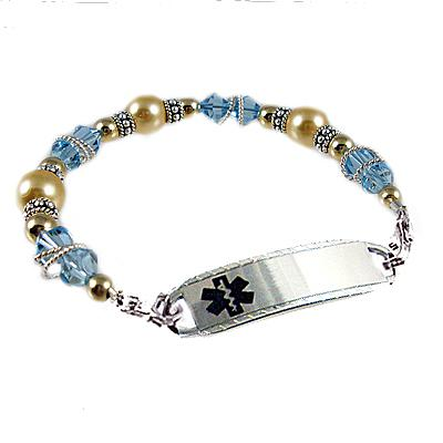 Mood Bead Medical Alert Bracelet