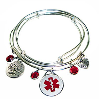 to bent the bracelet drug silver medical id shop sender alert return allergy medic