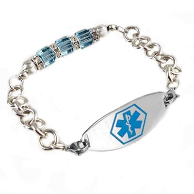 Crystal Medical ID Bracelets
