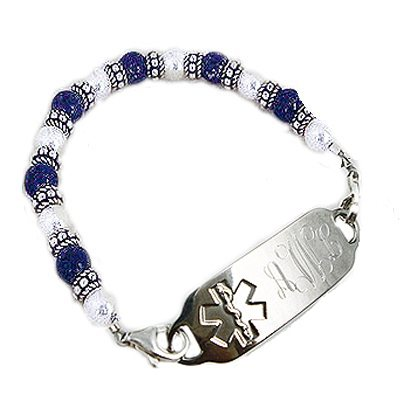 Ladies London Blue Medical ID Bracelets