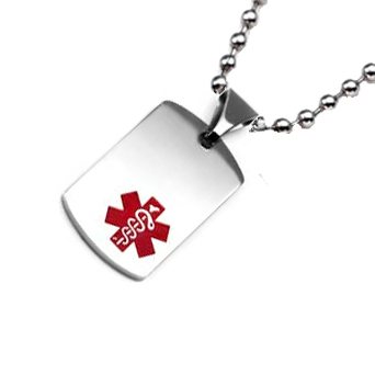 Stainless Steel Medical ID Pendant
