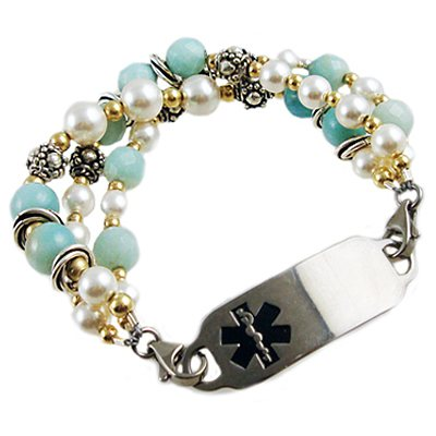 Deluxe Bahama Breeze bracelet with medical id tag