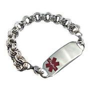 Ladies Stainless Medical Bracelet