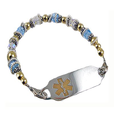 Birthstone Medical ID Bracelets