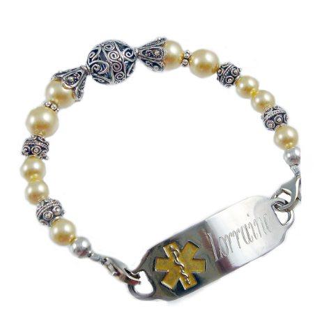 Golden Starlet Medical ID Bracelet Tags