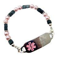 Hematite Medical Bracelet Jewelry