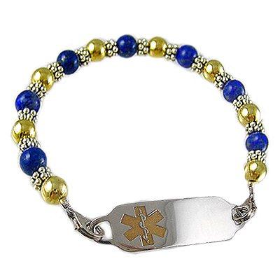 Ladies London Blue Medical ID Bracelets