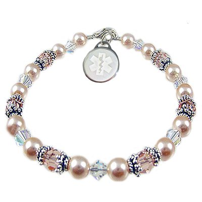 Simply Pearlized Medical Charm Bracelets