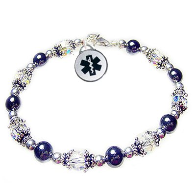 Calming Hematite Medical Charm Bracelets